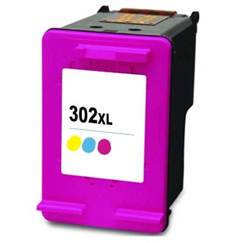 Cartucho de tinta compatible HP 302XL color - cartucho-tinta-hp-302xl-color-compatible