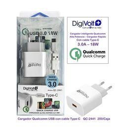 Digivolt QC-2441 Cargador Rápido UUB 3.0 18W. - digivolt qc2441