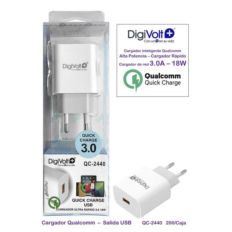 Digivolt QC-2440 Cargador rápido usb 3.0 - digivolt qc2440
