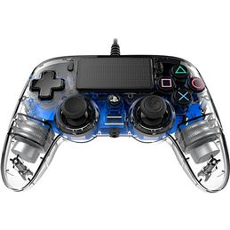 Nacon Mando consola PS4 con cable Azul - Nacon Mando consola PS4 con cable luz azul