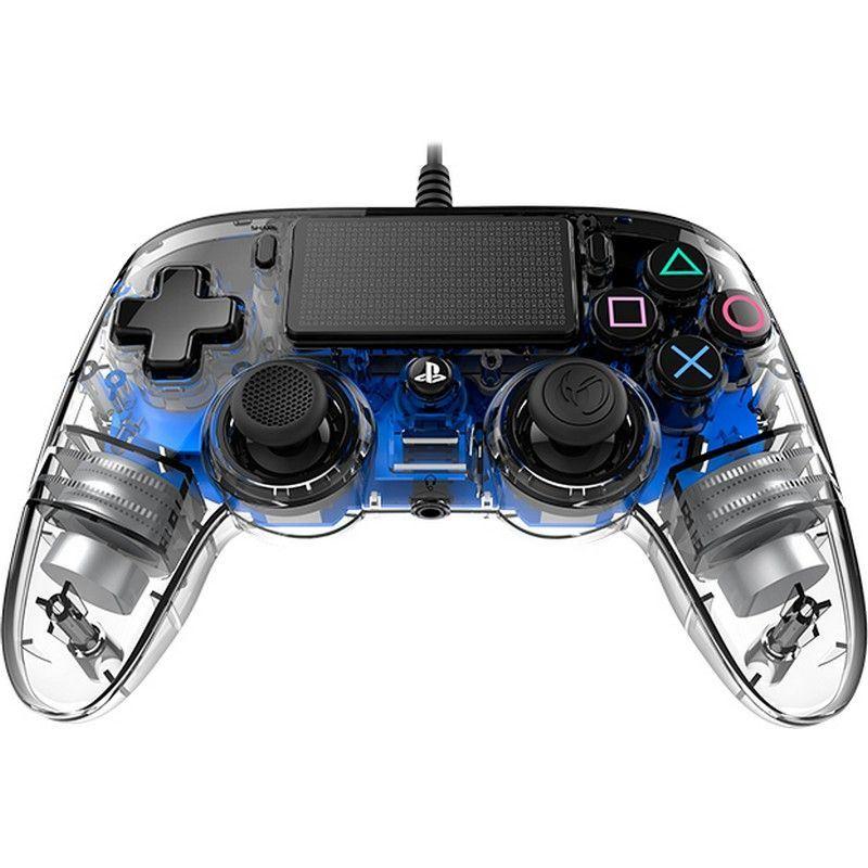 Nacon Mando consola PS4 con cable Iluminado Azul - nacon-ps4-light-azul-2
