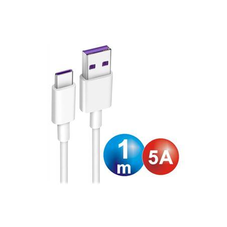 Digivolt CB-8261 Cable Usb a Usb-a tipo C 1,00m 5A - conexion-tipo-c-macho-a-usb-macho-1m-5a-cb-8261