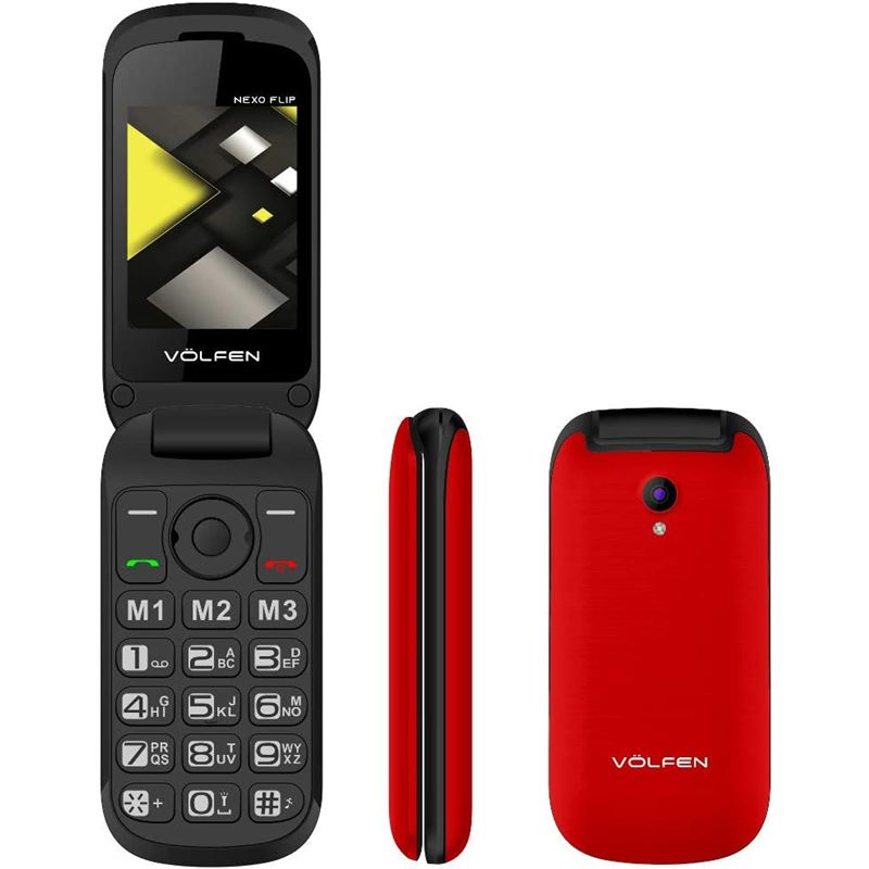 Volfen 00139 Teléfono móvil libre Nexo Flip rojo - Volfen 00139 Teléfono móvil libre Nexo Flip rojo_1