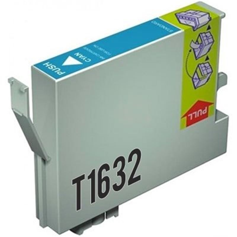 Cartucho tinta compatible Epson T1632 Cian - cartucho-tinta-epson-t1632-16xl-cian-compatible