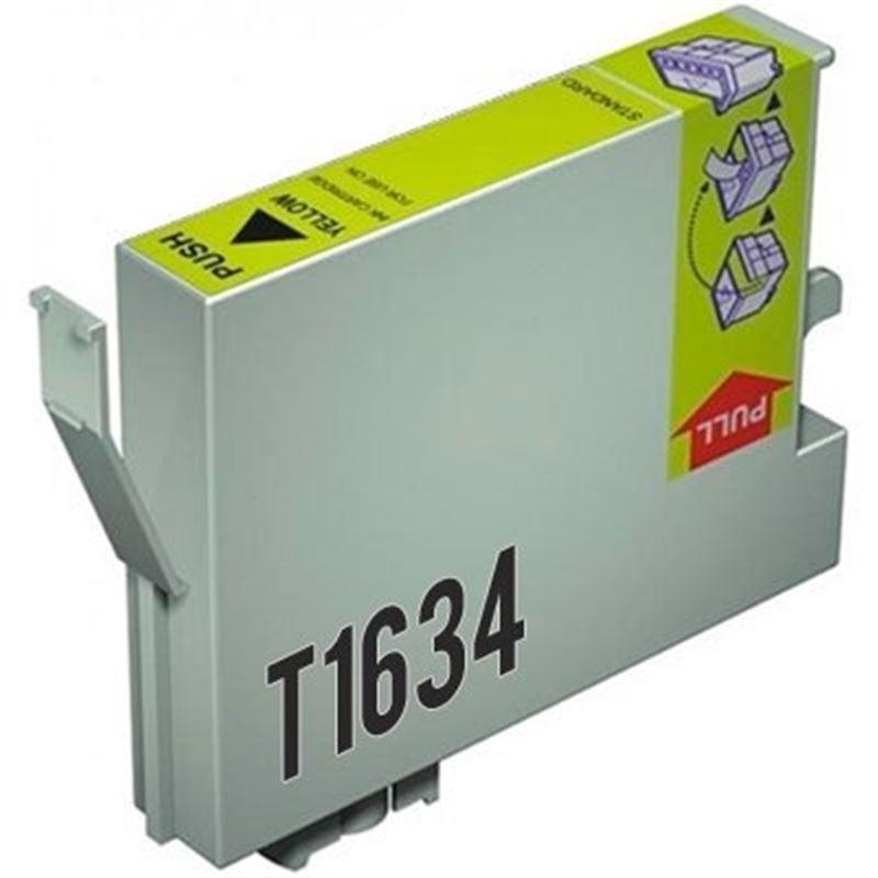 Cartucho de tinta compatible Epson T1634 amarillo - cartucho-tinta-epson-t1634-16xl-amarillo-compatible