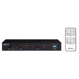 Fonestar FO-14M42E matriz hdmi 4x2 full hd 1080p. - FONESTAR FO-14M42E
