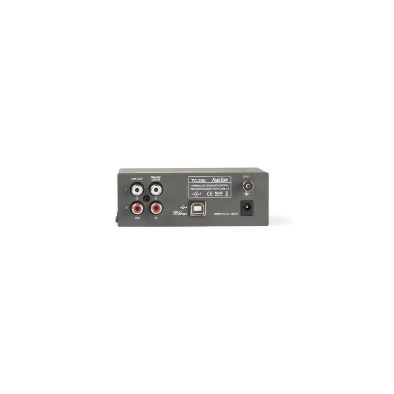 Fonestar TC-20U Preamplificador USB audio interfaz - fonestar-tc-20u