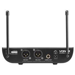 Vonyx WM82 Micrófono UHF 2-CH 2 micros de mano - 179212_back