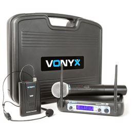 Vonyx WM-512C Micrófono inalámb. VHF 2-canales - 179223_side1