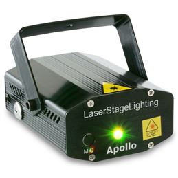 Beamz 152752 Laser Apollo Multipoint Red Green - Beamz 152752 Laser Apollo Multipoint Red Green