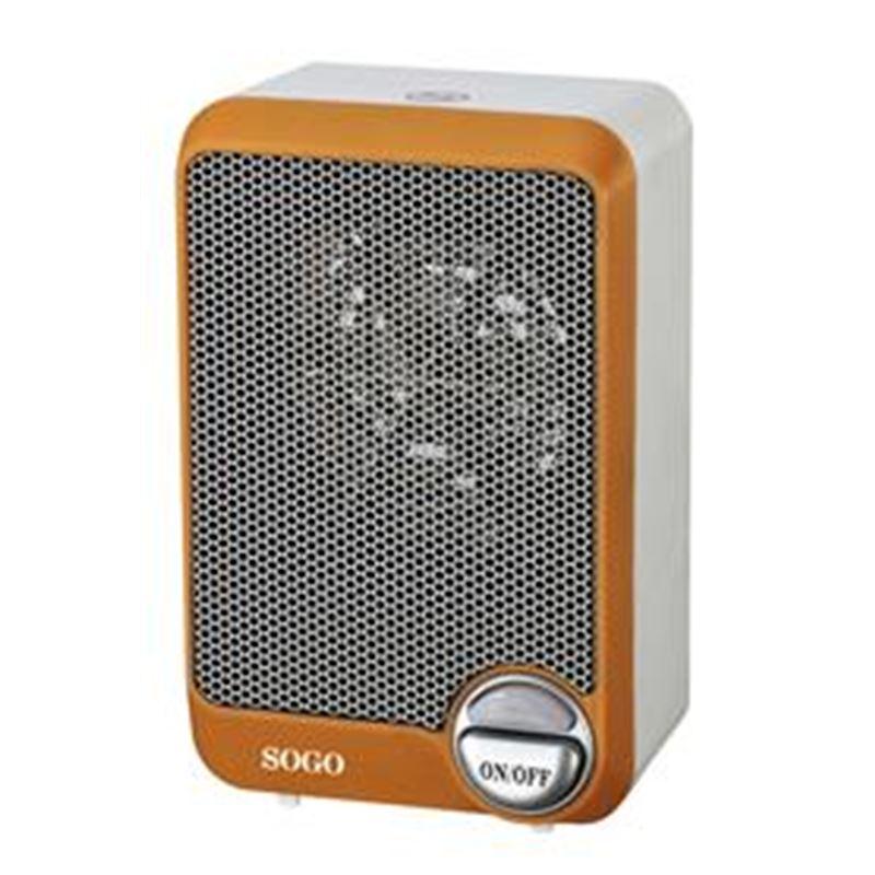 Sogo SS-18295 mini calefactor 600W. (naranja) - SOGO SS-18295 NARANJA