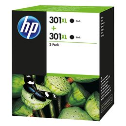 Cartucho de tinta HP 301XL negro (Pack-2) original - 2x301xl