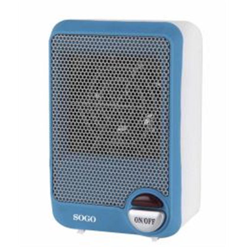 Sogo SS-18295 mini calefactor 600W. (azul) - SOGO SS-18295 AZUL