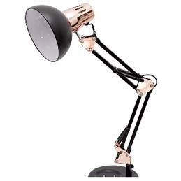ANTIGONA Lámpara articulable negro+cobre - Fabrilamp ANTIGONA Lámpara articulable negra-cobre