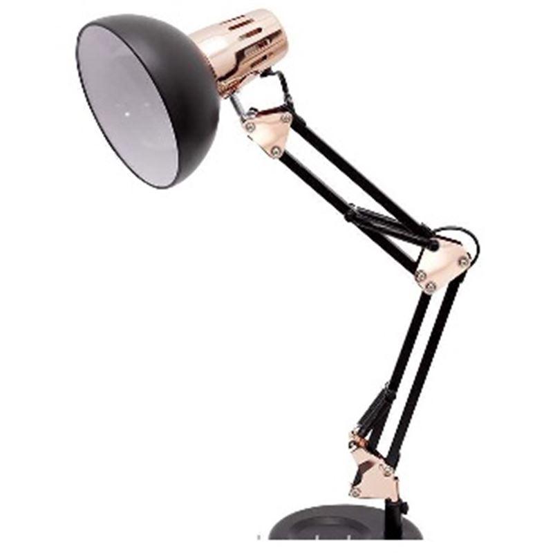 ANTIGONA Lámpara articulable negra-cobre - Fabrilamp ANTIGONA Lámpara articulable negra-cobre