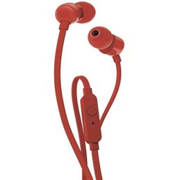 JBL Tune 110 Auricular estéreo con micro rojo - JBL TUNE 110 ROJO
