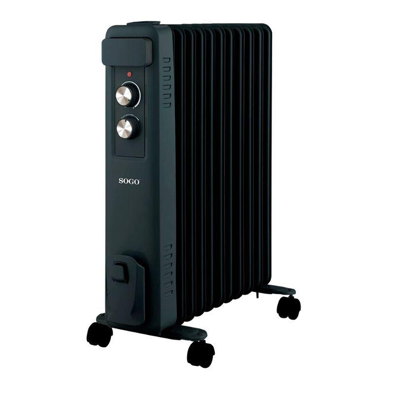 Sogo SS-18465 Radiador Aceite 11E 2500W negro - Sogo SS-18465 Radiador Aceite 11E 2500W