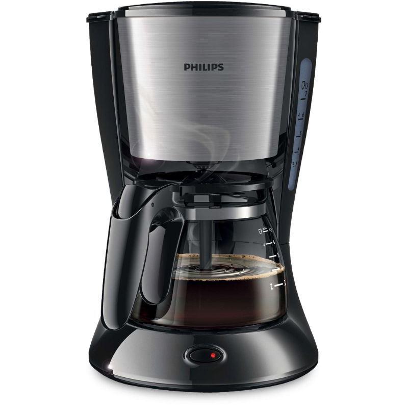 Philips HD-7435 Cafetera Goteo 700W 6 Tazas - Philips HD-7435 Cafetera Goteo Metal negro