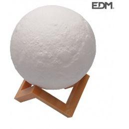 Edm 36405 Lámpara Luna 3D c/luz 15cm. - Edm 36405 Lámpara Luna 3D con luz 15cm.1_1