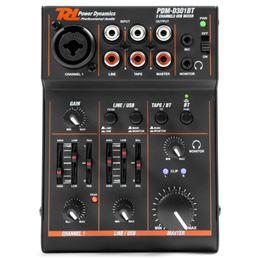 PDM-D301BT Mezclador de 3 CH Usb Soundcard BT - 172603_front