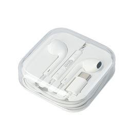 GMR EA6018 Auricular Tipo-C c/micro goms blanco - GMR EA6018 Auricular Tipo-C con micro goms blanco