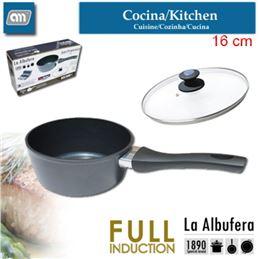 La Albufera Y804450 Cazo con tapa de cristal 16cms - La Albufera Y804450