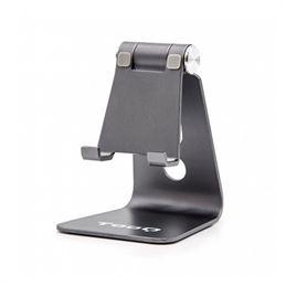 Tooq PH0001-G Soporte Mesa Smartphone Tablet - soporte-smartphonetablet-tooq-de-sobremesa-gris