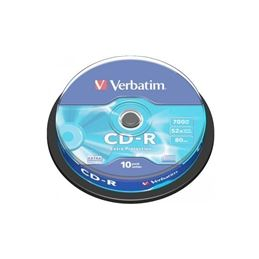 Verbatim CD-R 52x 700MB Tarrina 10 Unidades - Verbatim CD-R 52x 700MB Tarrina 10 Unidades