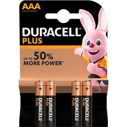 Duracell LR03 Pila Alcalina plus AAA x4 - Duracell LR-3 Pila alcalina plus (blis-4)