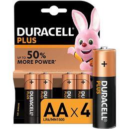 Duracell LR6 AA x4 Pila Alcalina plus - Duracell-Plus-AAAA-x4