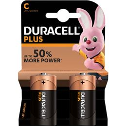 Duracell LR14 Pila alcalina plus x2 - Duracell-Plus-lr14-x2