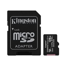 Kingston Tarjeta Micro SD 128GB CANVAS Select Plus - micro-sd-kingston-128gb-canvas-select-plus-clase-10-con-adap