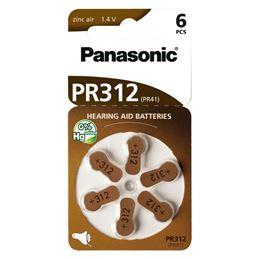 Panasonic PR312 Pila audífono Zinc Air x6 - Panasonic-PR312