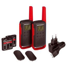 Motorola TLKR-T62 Walkie talkabout pareja rojo - 95925