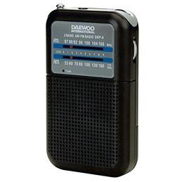 Daewoo DRP-8 Radio AM/FM negro - DAEWOO DRP-8B NEGRA