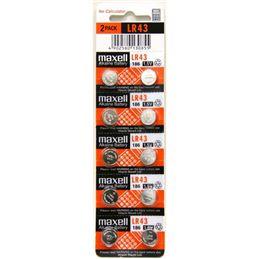 Maxell LR43 Pila botón alcalina 1,5V unidad - maxell-lr43-pack-1