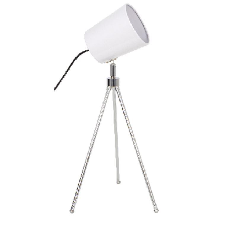 MELIADES Lámpara Flexo trípode blanca - Fabrilamp MELIADES Lámpara Flexo blanca