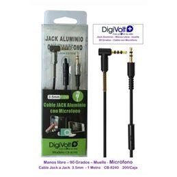 DIGIVOLT CB-8240 Cable jack/jack c/micro. acodado - digivolt cb8240