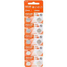 Maxell LR44 Pila botón alcalina 1,5V unidad - pila-maxell-lr44-15-v-pack-10-pilas