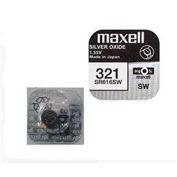 Maxell 321/SR-616SW Pila óxido plata x1 - MAXELL-321-2