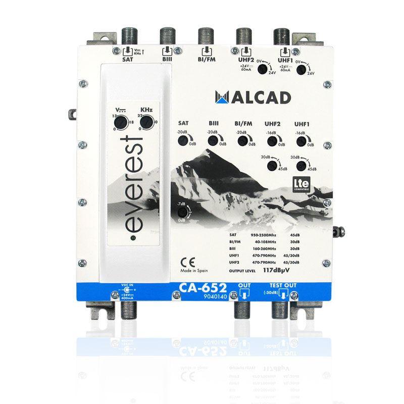 Alcad CA-652 Amplificador Sat-2-UHF-BIII-BI/FM - Alcad ca-652 amplificador sat, 2-uhf-bIII-bifm lte