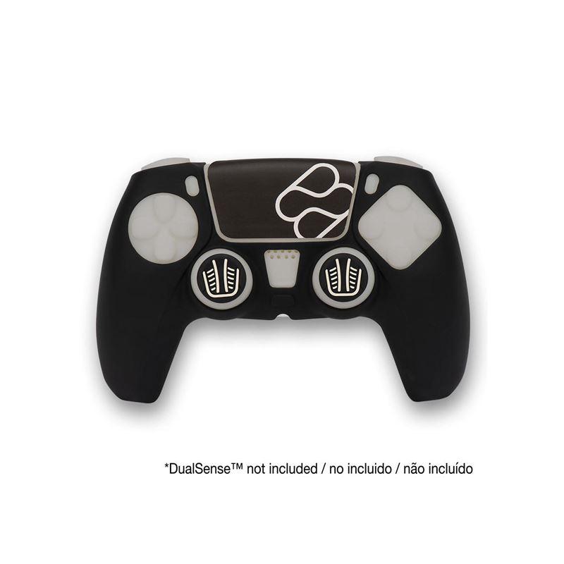 FR-TEC Funda Silicona+Grips Mando Consola PS5 - silicone-skin-grips-touchpad-sticker-fr-tec-ps5