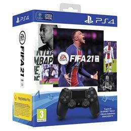 Sony Pack Mando DualShock 4 V2 + FIFA 21 - 1206-sony-pack-mando-dualshock-4-fifa-21-14-dias-suscripcion-playstation-plus