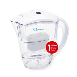 Aquanatur+Jarra Agua+filtro 2,50L. blanco - AQUANATUR TMJAR025 BLANCA