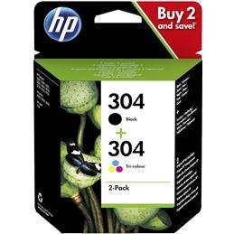 Cartucho tinta original HP 304 Negra+Color - Cartucho tinta original HP 304 Negro+color