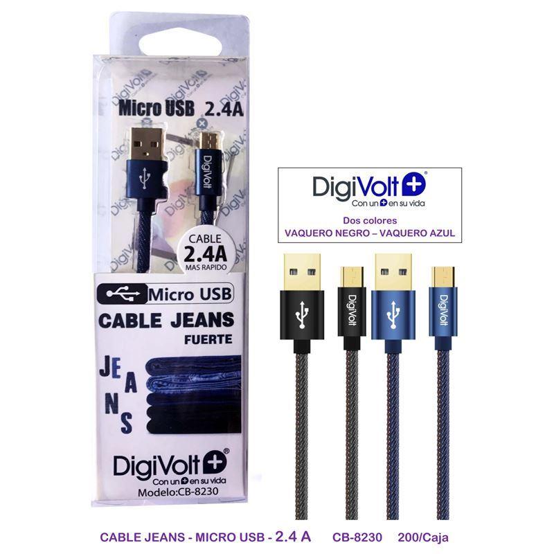 DIGIVOLT CB-8230 Cable carga jeans micro usb - digivolt cb8230