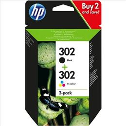 Cartucho tinta original Hp 302 negro+color (Pack) - pack-cartuchos-tinta-hp-302-original