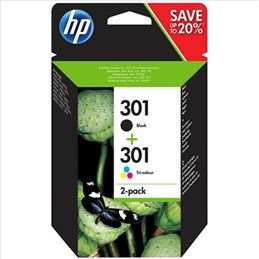 Cartucho tinta original HP 301 negro+color - pack-2-cartuchos-tinta-hp-301-original