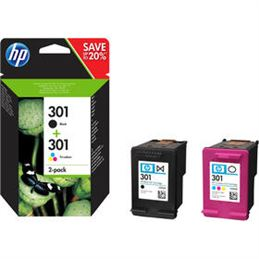 Cartucho tinta original HP 301 Negro+Color - tinta-original-hp-n-301-cololr-y-black-