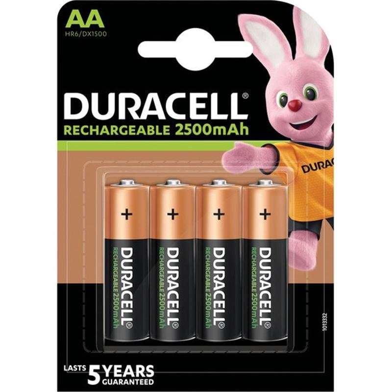Duracell HR6 AA x4 Pila recargable 2500mAh - duracell-aa-2500mah